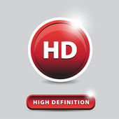HD - high definition button — Stock Vector