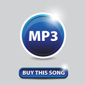 Mp3 buy this song icon — Stock Vector