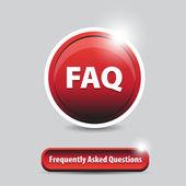 FAQ button — Stock Vector