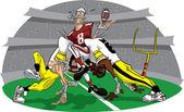 Prisa en partido de fútbol americano — Foto de Stock