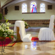 Church before a wedding ceremony — Stock Photo