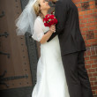 Just married in front of the church — Stock Photo #11167127