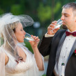 Champagne and a young couple — Stock Photo #11167153