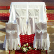 Altar before the wedding ceremony — Stock Photo