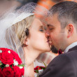 Young Couple After Wedding Ceremony — Stock Photo