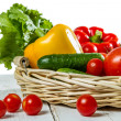 Fresh vegetables in the basket — Stock Photo #11234186