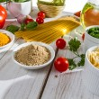 Stock Photo: Ingredients and flavors of Italicuisine