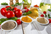 Ingredients for a healthy meal — Stock Photo