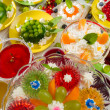 Stock Photo: Birthday Party with fruit jelly