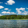 Summer view at the lake — Stock Photo