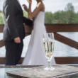 Champagne Wedding Celebration — Stock Photo