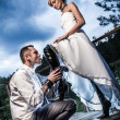 Concept of dominant womjust married — Stock Photo #11643993