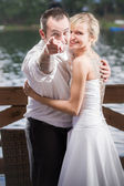 The groom points to you — Stock Photo
