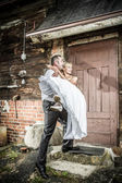 Happy young couple just married — Stock Photo