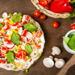 Preparations for baking pizza — Stock Photo #11994753