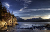 Low Tide in the Turnagain Arm Alaska — Stock Photo