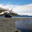 Stock Photo: Derelict boat near Whittier Alaska