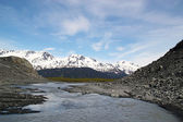 River formed by Exit Glacier — Stockfoto