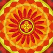Floral Mandala Drawing - Sacred Circle - Stock Photo