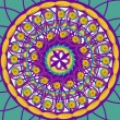 Kaleidoscopic mandala drawing sacred circle - Stock Photo