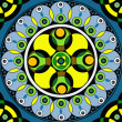 Geometric mandala drawing - sacred circle - Stock Photo