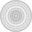 Geometric mandala drawing - sacred circle — Stock Photo