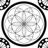 Geometric mandala drawing - sacred circle — Stock Photo