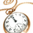 vieux pocket watch isolé sur fond blanc — Photo