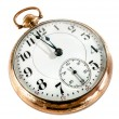Stock Photo: Old pocket watch isolated on white background