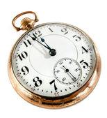 Staré kapesní hodinky izolované na bílém pozadí — Stock fotografie