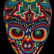 Beaded skull isolated on black — Stock Photo #11831162
