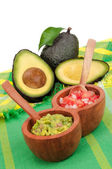 Guacamole, Pico de Gallo and Avocados — Stock Photo