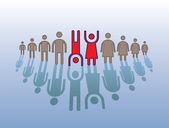 Figuras humanas em linha — Vetorial Stock