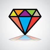 Símbolo de diamante — Vector de stock