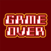 Game over concept — Stock Vector