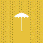 Raining on a umbrella — Stock Vector