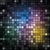 Eps10 抽象的な光沢のある四角形の背景 — ストックベクタ