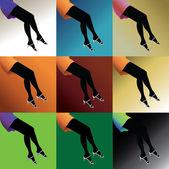 Gambe di donna calda — Vettoriale Stock