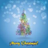 抽象的圣诞树 — 图库矢量图片