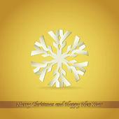 Fiocco di neve carta — Vettoriale Stock