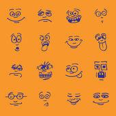 Set of cartoon emotions — Stock Vector