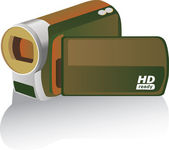 Hd camcorder — Stock Vector