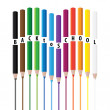 Drawing color pencils — Stock Photo #12035642