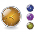Shiny metal clocks — Stock Photo