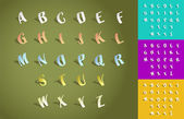 Set of alphabet fonts — Stock Photo