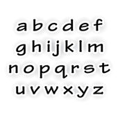Cut of paper alphabet font — Stock Photo