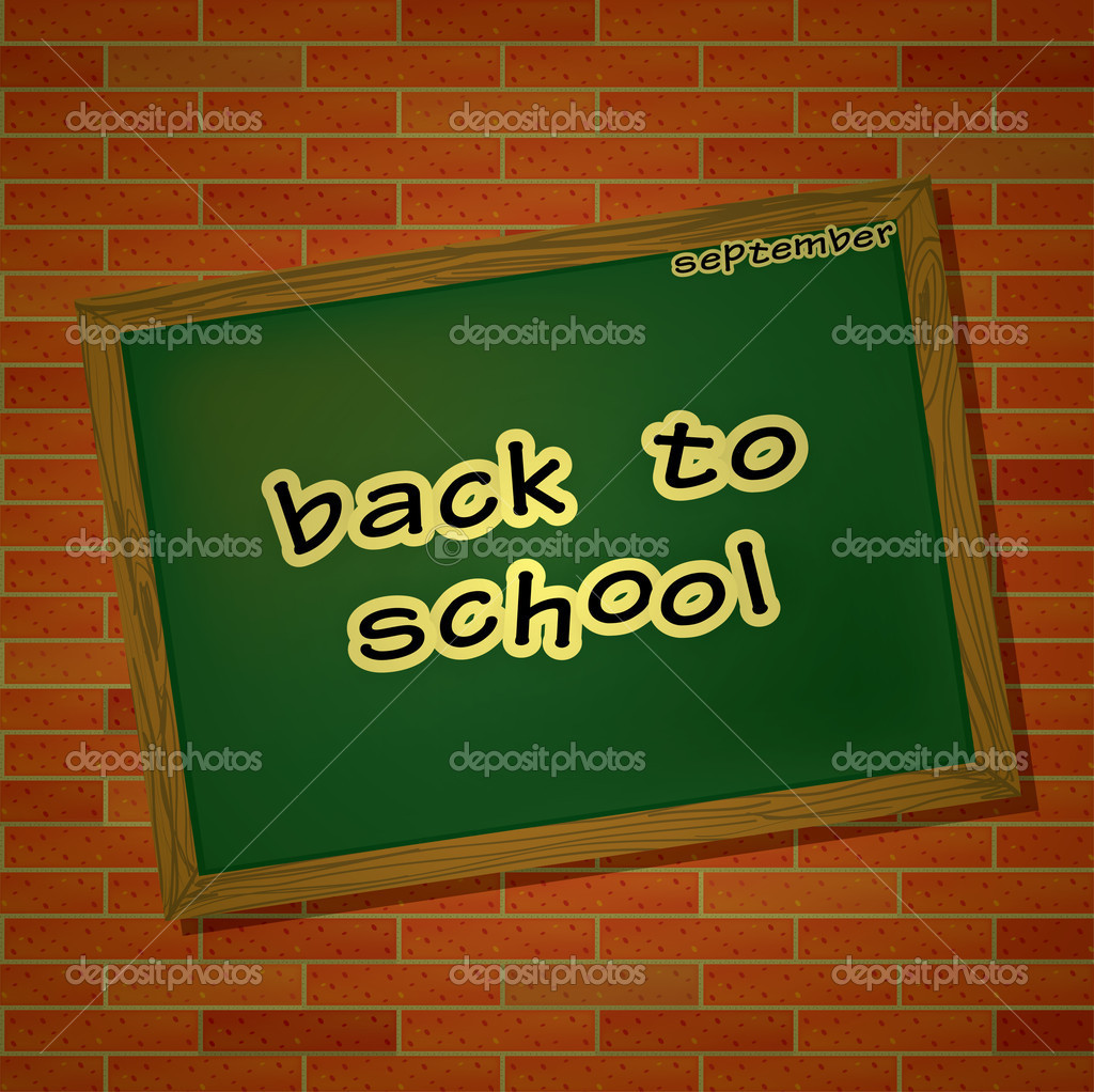 Back to school theme with table and letters — Stock Photo #12035901