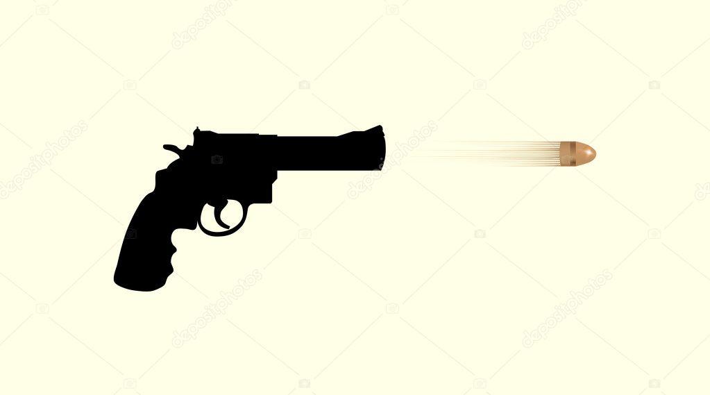 Gun firing bullet — Stock Photo © i3alda #12035925