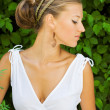 Profile of girl in Greek style — Stock Photo