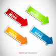 set of colorful arrows — Stock Photo